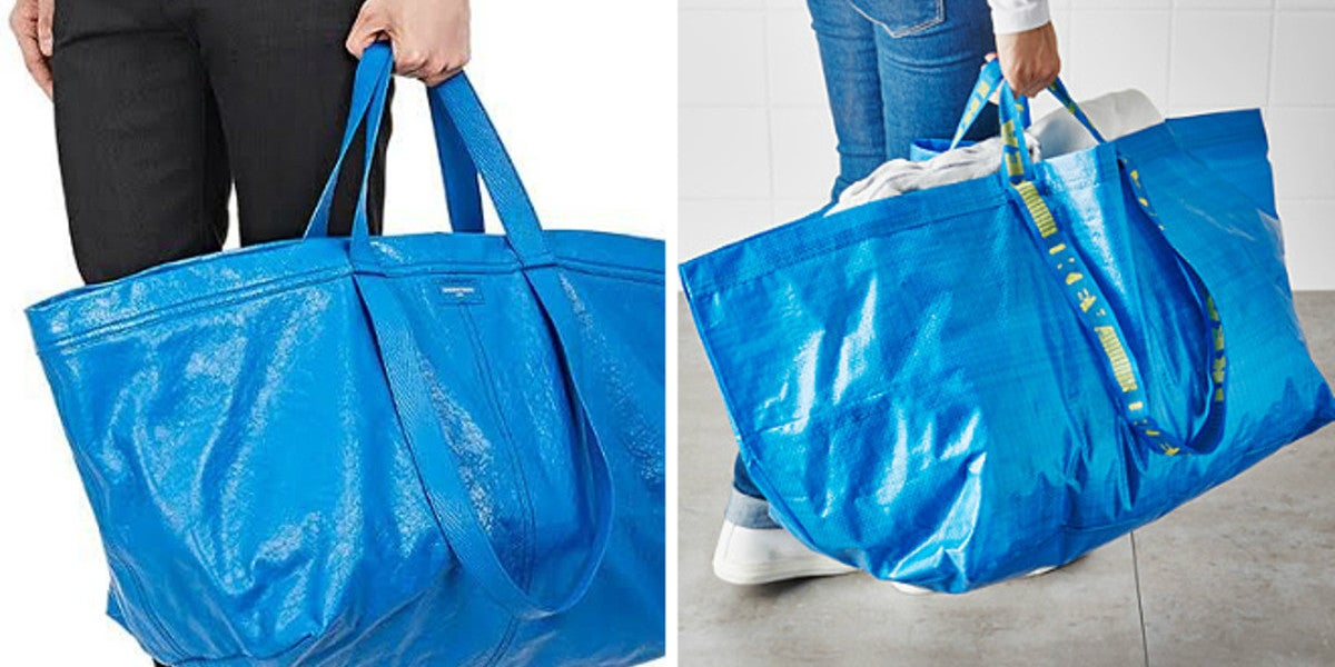 El parecido entre el bolso de Balenciaga y la bolsa de IKEA