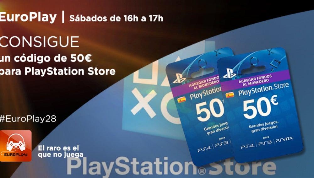 ¡Consigue un código de 50€ para PlayStation Store!