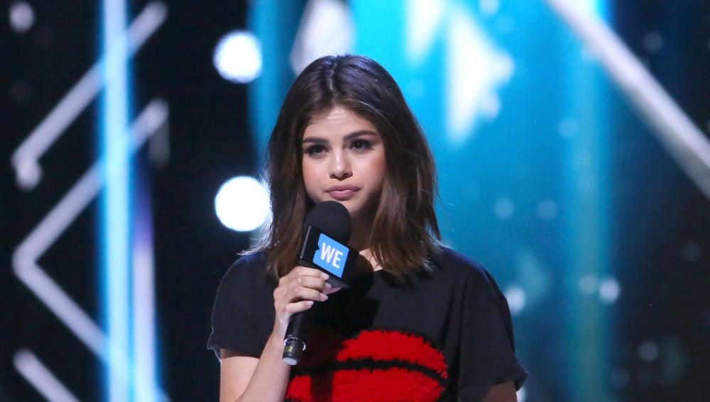 Selena Gomez durante el We Day