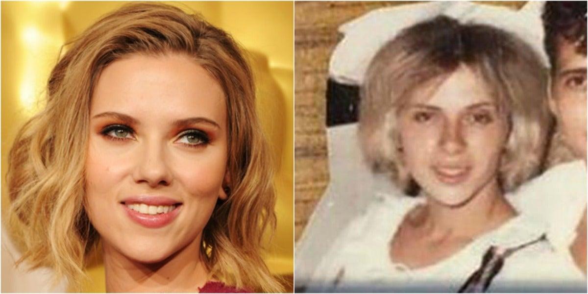 A la izquierda Scarlett Johansson y a la derecha Geraldine
