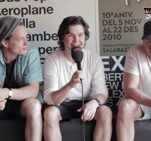 Lukas Graham durante su entrevista con Europa FM