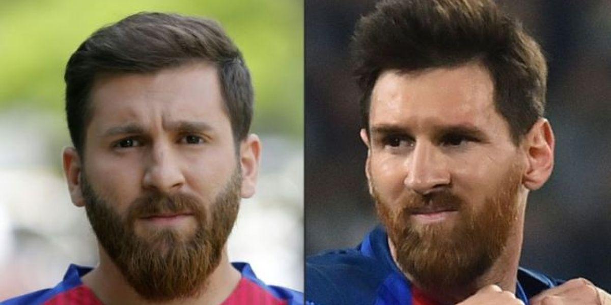 Reza Parastesh a la izquierda, Leo Messi a la derecha