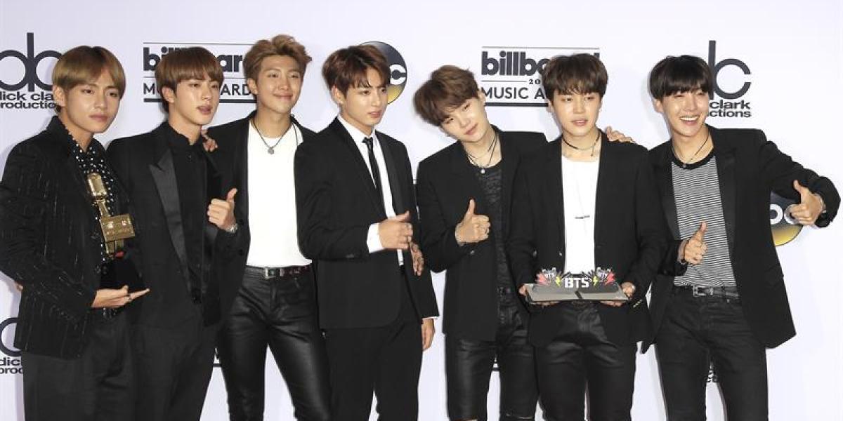 BTS, banda de K-pop galardonado en los Billboard Music Awards 2017