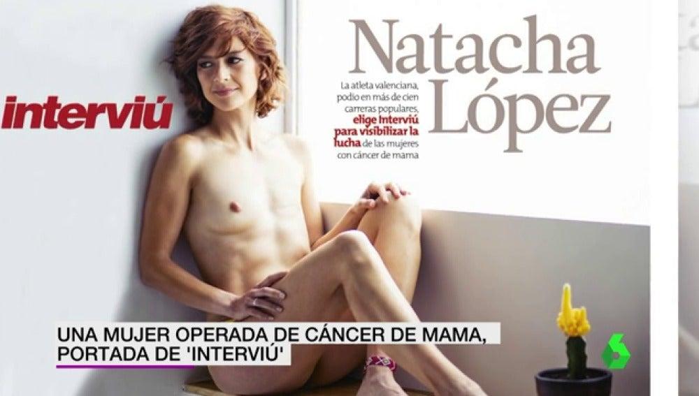 Natacha López en Interviú