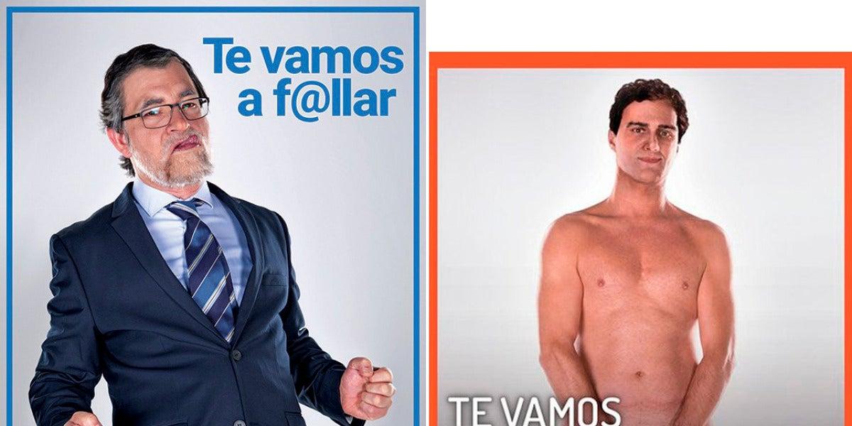 Dos actores imitan a Mariano Rajoy y Albert Rivera para publicitar el Salón Erótico de Madrid