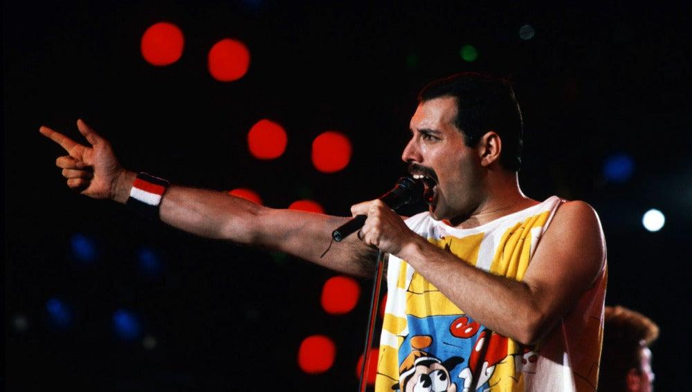 Freddie Mercury en concierto