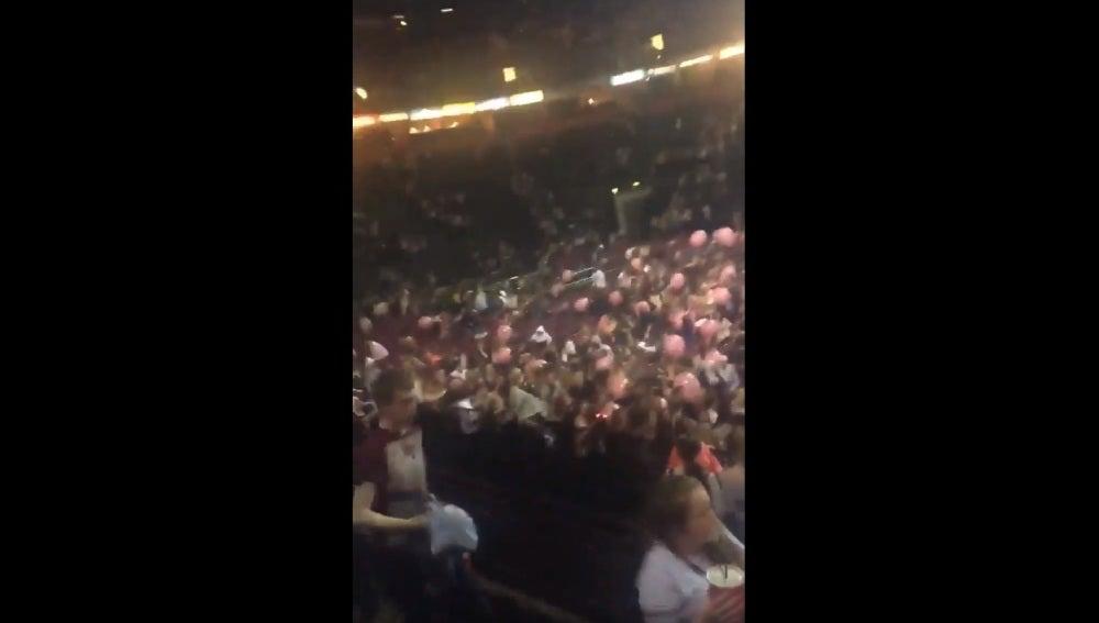 Interior del Manchester Arena tras la explosión