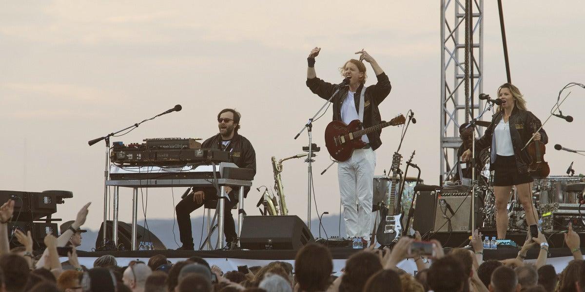 Arcade Fire, durante su concierto en el Primavera Sound 2017