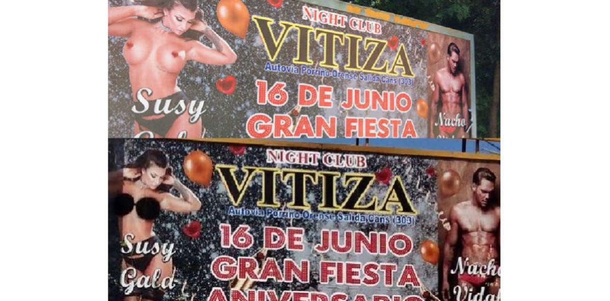 La valla de la polémica en Vigo