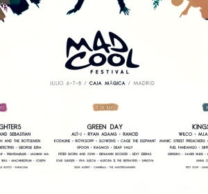 Line Up del Mad Cool 2017 con Foo Fighters, Green Day y Kings of Leon