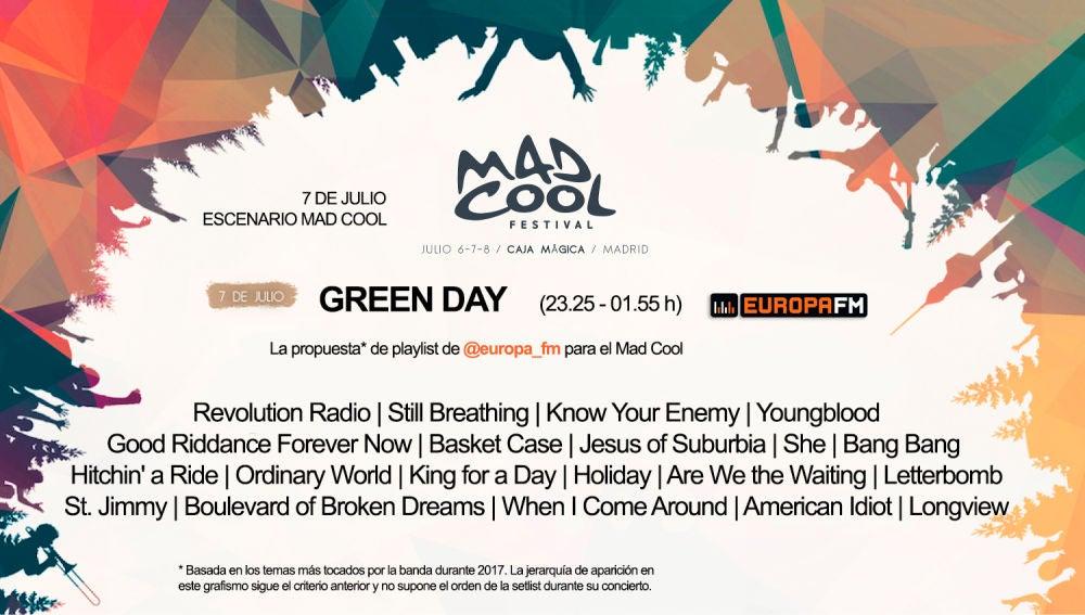 Nuestra propuesta de playlist para Green Day en el Mad Cool