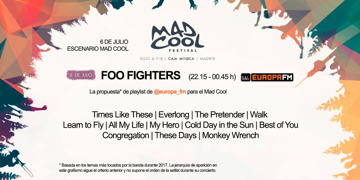 Nuestra propuesta de playlist para Foo Fighters en el Mad Cool