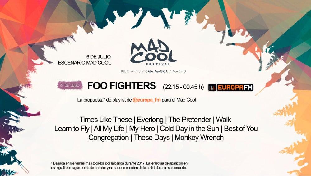Nuestra propuesta de playlist para Foo Fighters en el Mad Cool