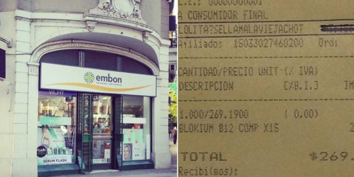 Farmacia en la que se burlaron de una anciana a través de un ticket de compra