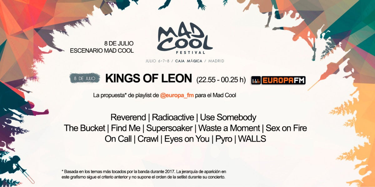 Nuestra propuesta de playlist para Kings of Leon en el Mad Cool