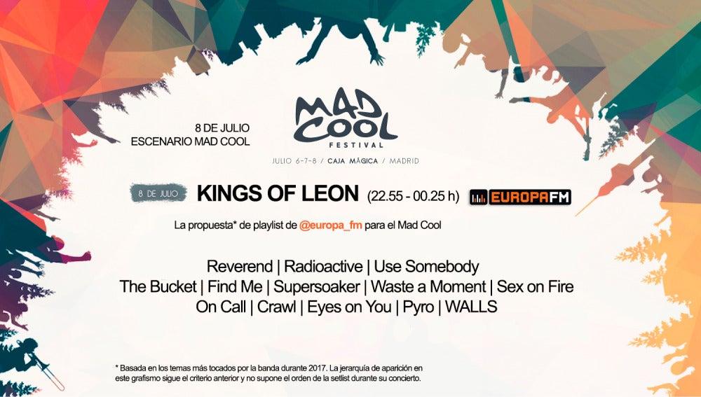 Nuestra propuesta de playlist para Kings of Leon en el Mad Cool