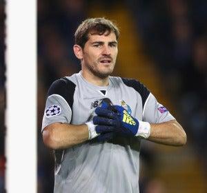 Iker Casillas durante un partido con el Oporto FC