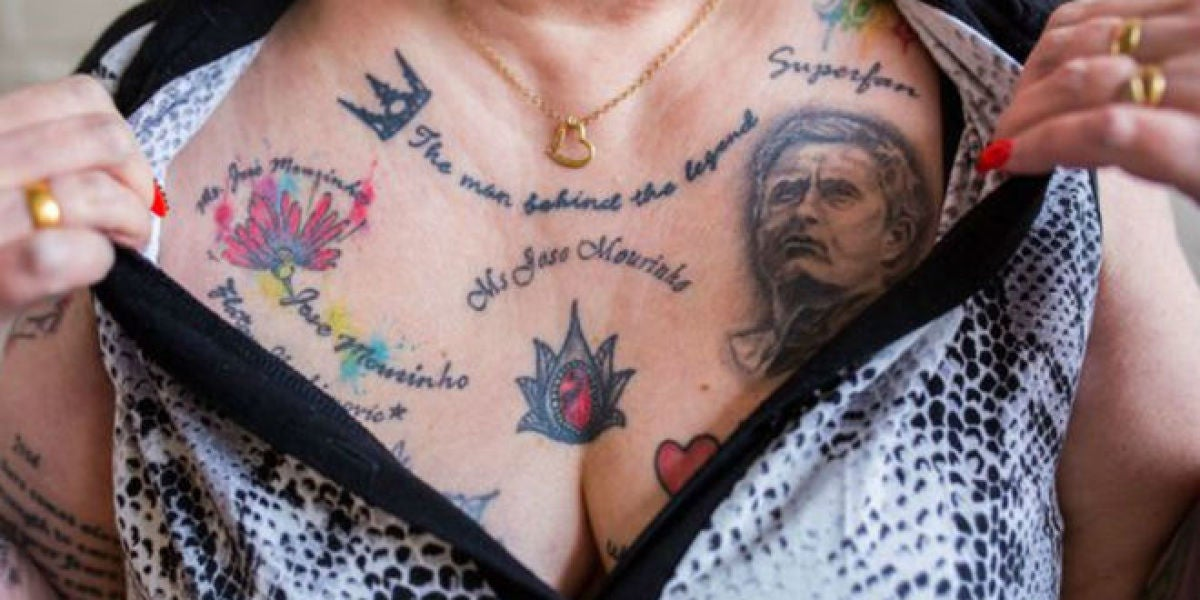 Una mujer se tatua 20 veces la cara de Mourinho