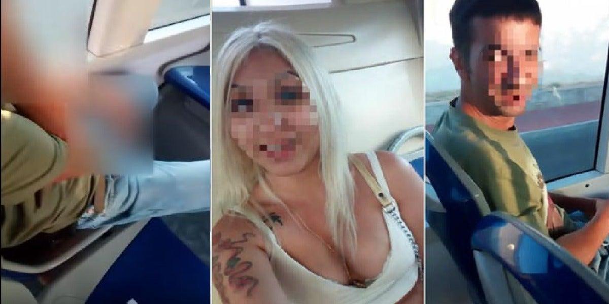 Una chica graba a un hombre masturbándose a su lado en el autobús