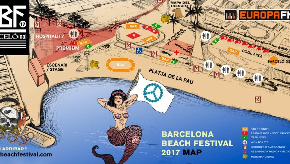 Mapa del BBF 2017