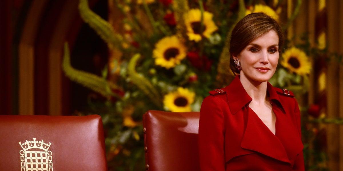 La Reina Letizia durante la visita de Estado a Reino Unido