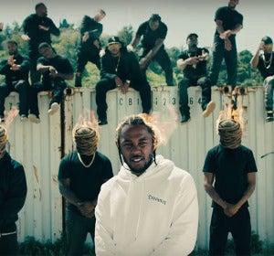 Kendrick Lamar en el vídeo de HUMBLE.