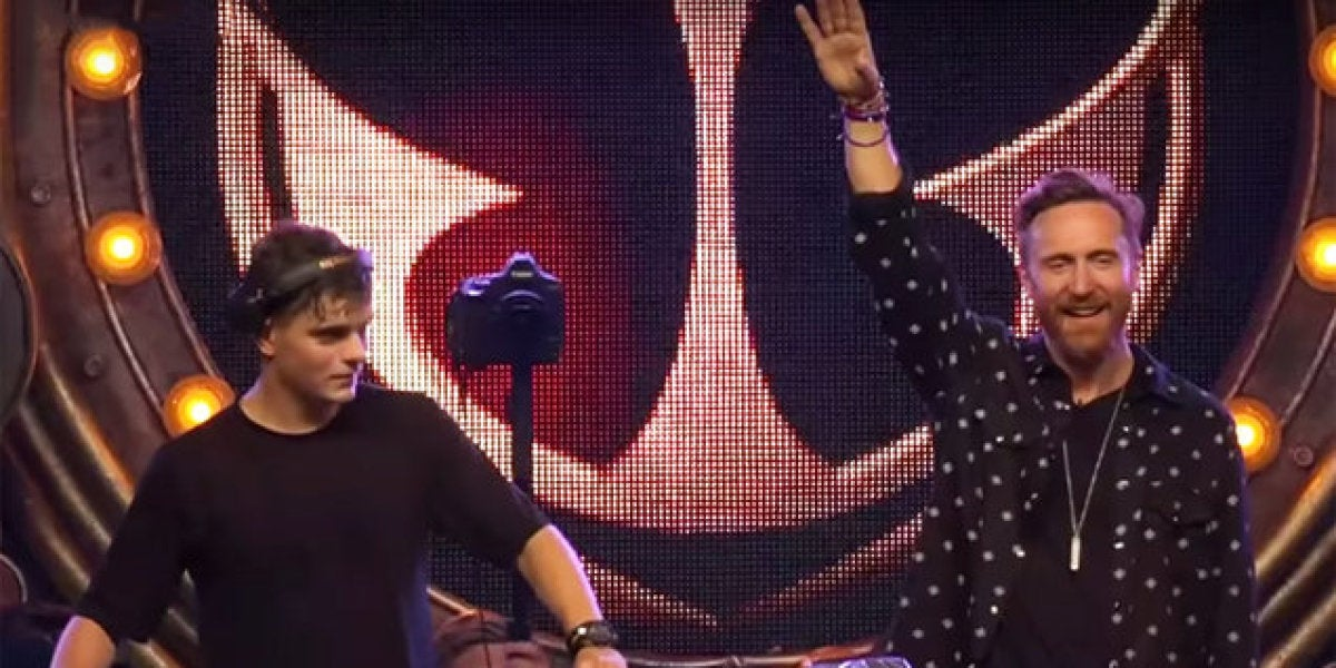 Martin Garrix y David Guetta en Tomorrowland 2017