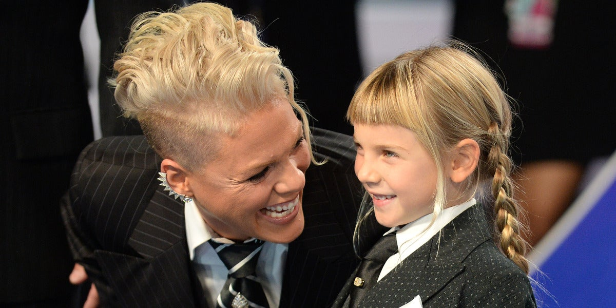 Pink junto a su hija Willow