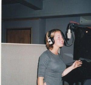 Katy Perry, con 13 años, en un estudio de grabación