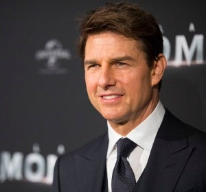 Tom Cruise en una premiere