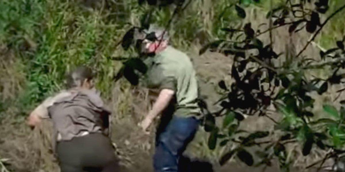 Frame del vídeo grabado por el testigo