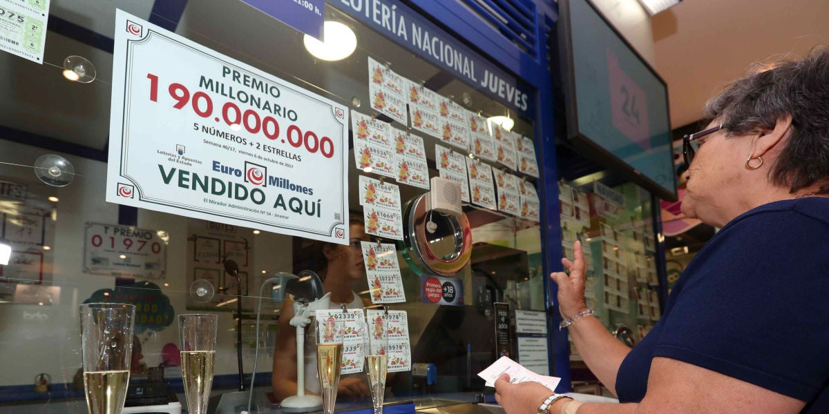 La administración de loterías 54 de Las Palmas de Gran Canaria donde se vendió el boleto