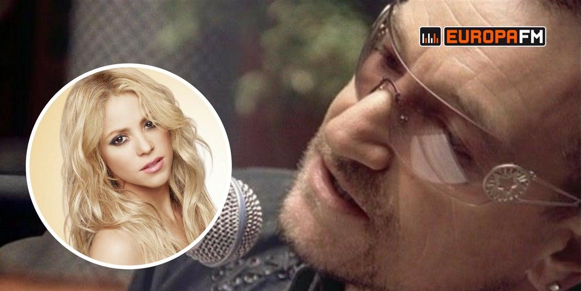 Bono de U2 homenajea a Shakira cantando uno de sus temas más míticos
