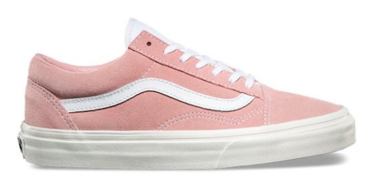 Zapatilla blanca y rosa de Vans