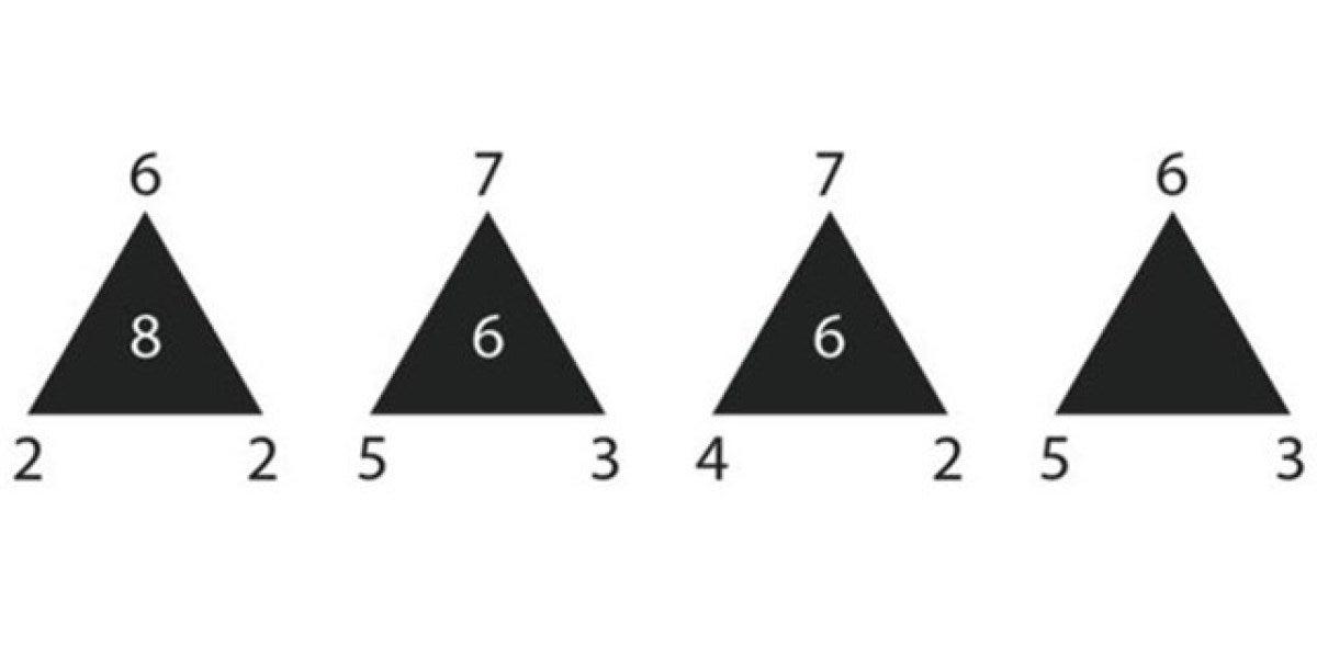 Reto matemático: ¿Qué número falta en el interior del cuarto triángulo?