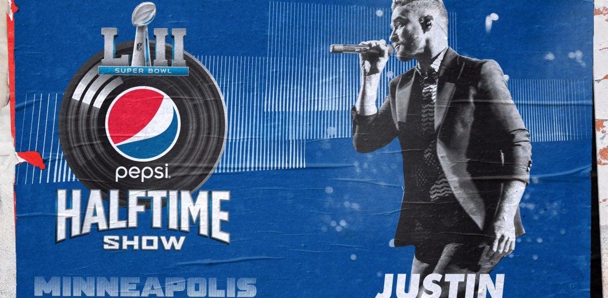 Justin Timberlake en la Super Bowl 2018