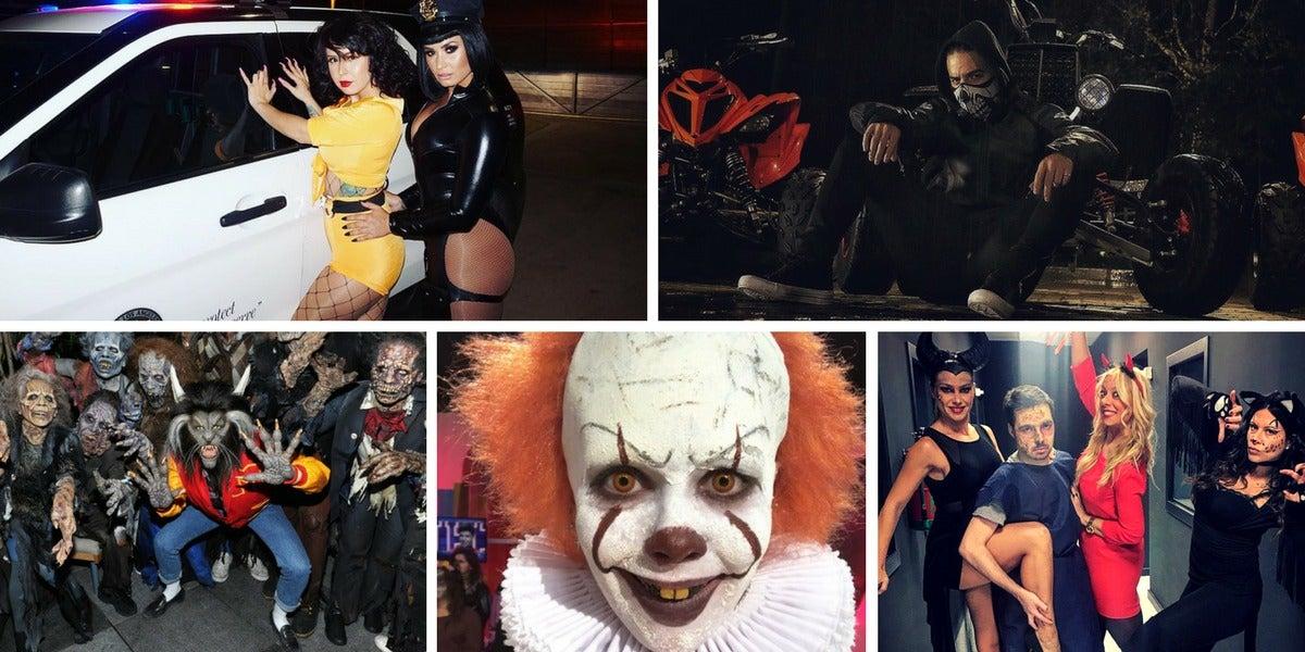 Los famosos en Halloween 2017