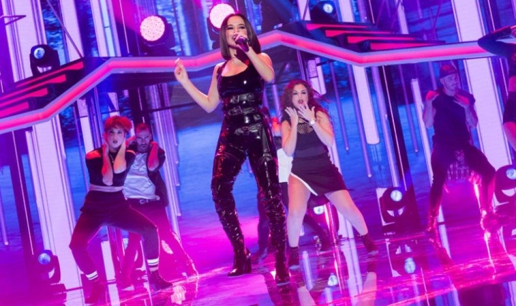 Becky G en su actuación en OT