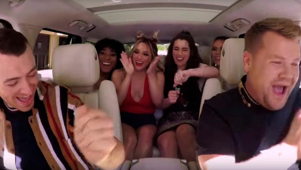 Sam Smith y Fifth Harmony en el Carpool Karaoke