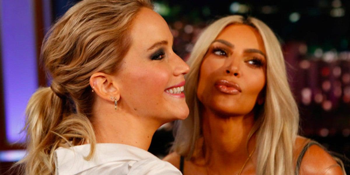 Jennifer Lawrence y Kim Kardashian
