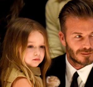 David Beckham junto a su hija Harper