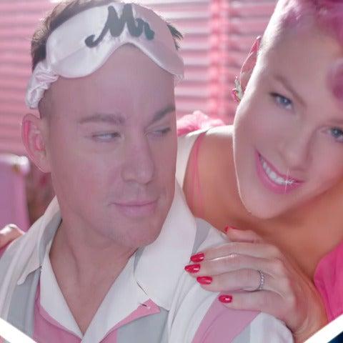 Channing Tatum y Pink en el vídeo de 'Beautiful Trauma'