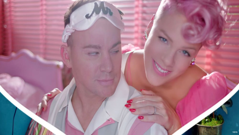Channing Tatum y Pink en el vídeo de 'Beautiful Trauma'