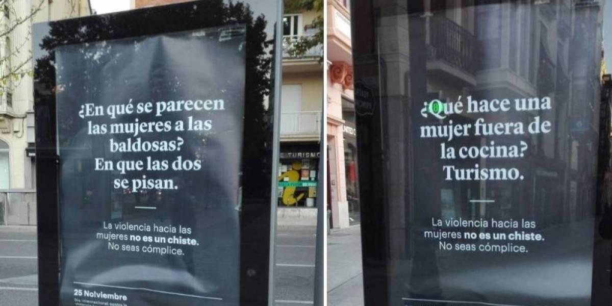 Dos de los carteles colocados por el Ayuntamiento de Zamora