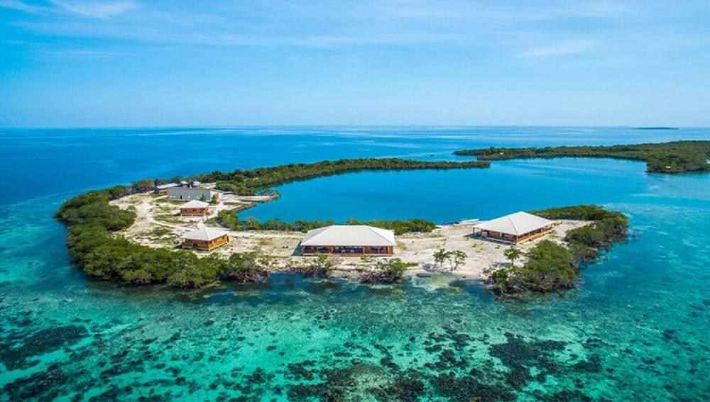 La isla privada en Placencia, Belice
