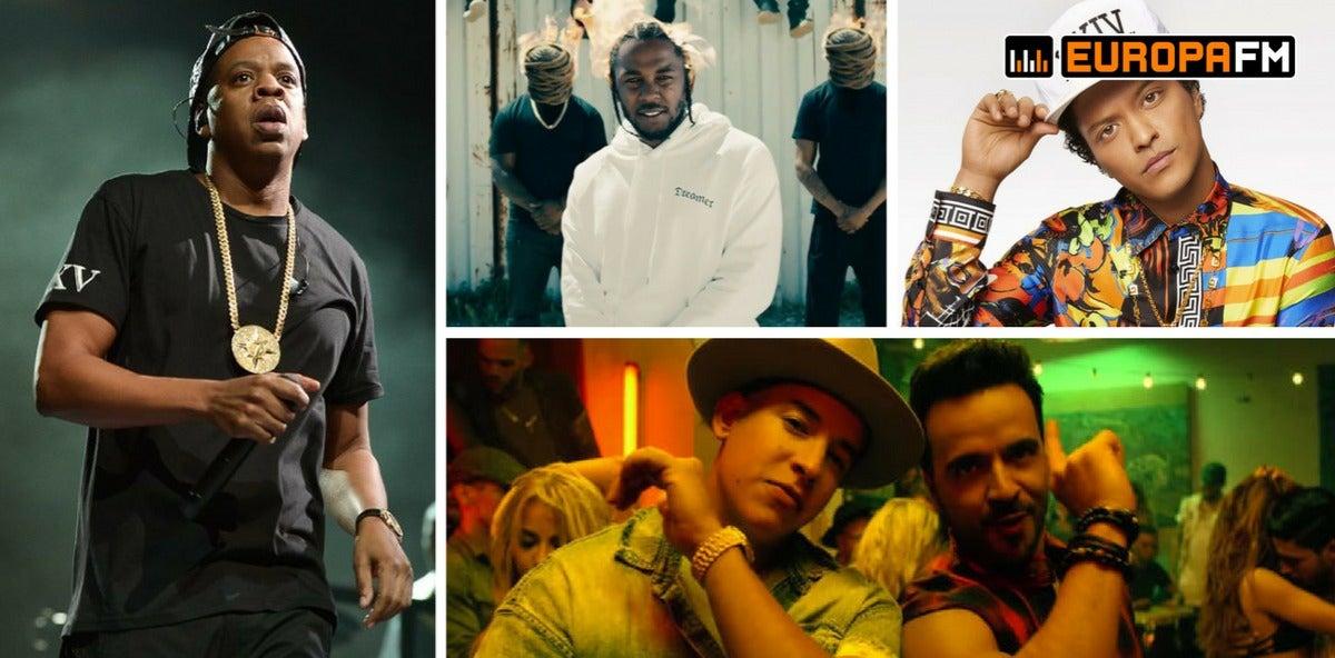 Jay-Z, Kendrick  Lamar, Bruno Mars y Luis Fonsi: favoritos Grammy 2018