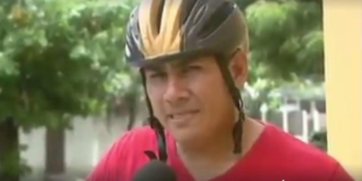 El gran error de una periodista durante una entrevista en un accidente