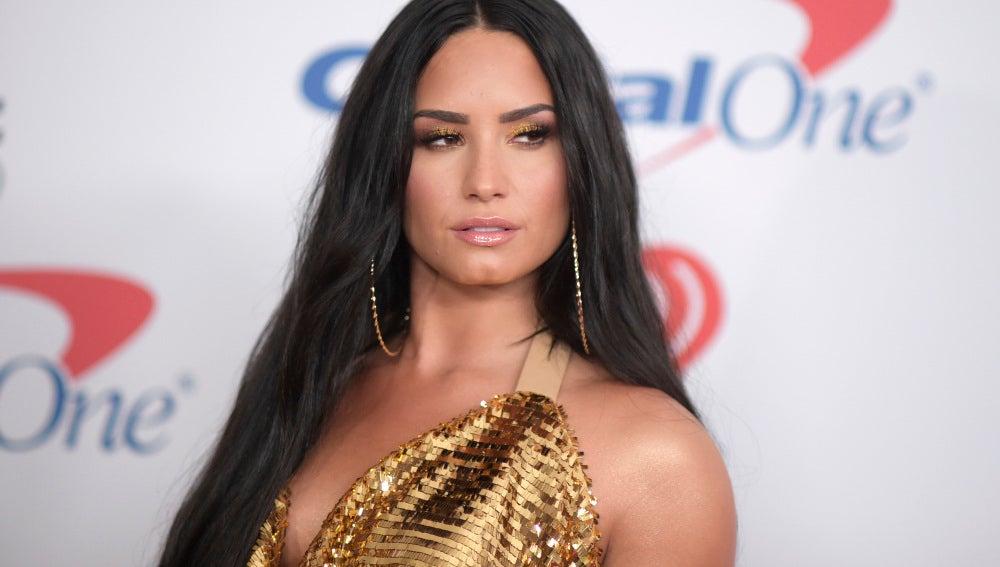 Demi Lovato durante los iHeart Radio's Jingle Ball