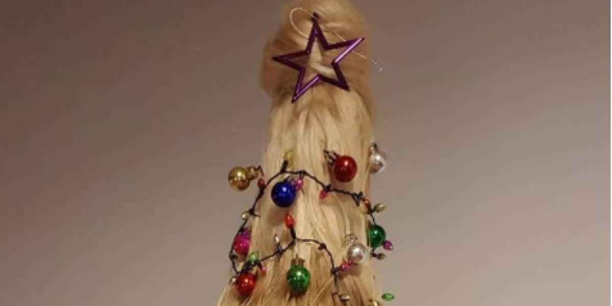 """Peinado """"árbol de Navidad"""""""