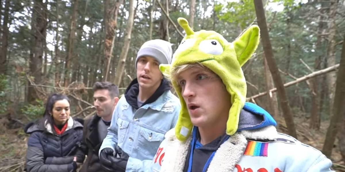 Logan Paul y sus amigos en el polémico vídeo